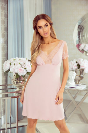 Ismena Light Pink Nightshirt - EVOLESCENT