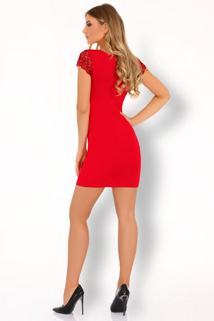 Sive Elegant Red Shirt And Thongs Set - EVOLESCENT
