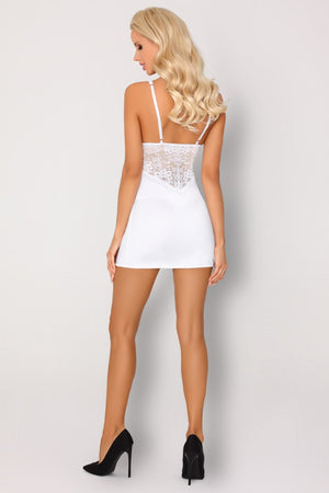 Dolorsan White Night Shirt With Thongs Set - EVOLESCENT
