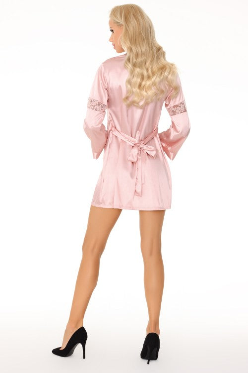 Deliam Pink Bathrobe Shirt And Thongs Set - EVOLESCENT