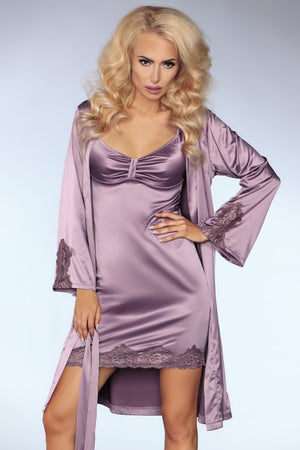 Noelle Stylish Linght Purple Night Shirt - EVOLESCENT