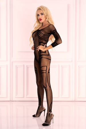 Monata Sensual Black Bodystocking - EVOLESCENT