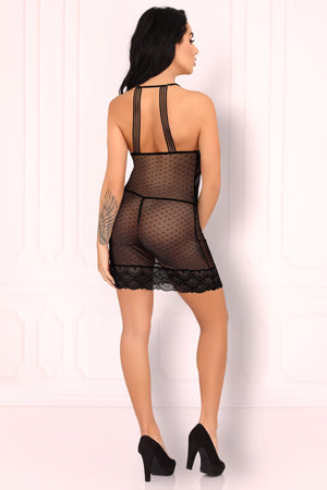 Comiran Seductive Black Shirt And Thongs Set - EVOLESCENT