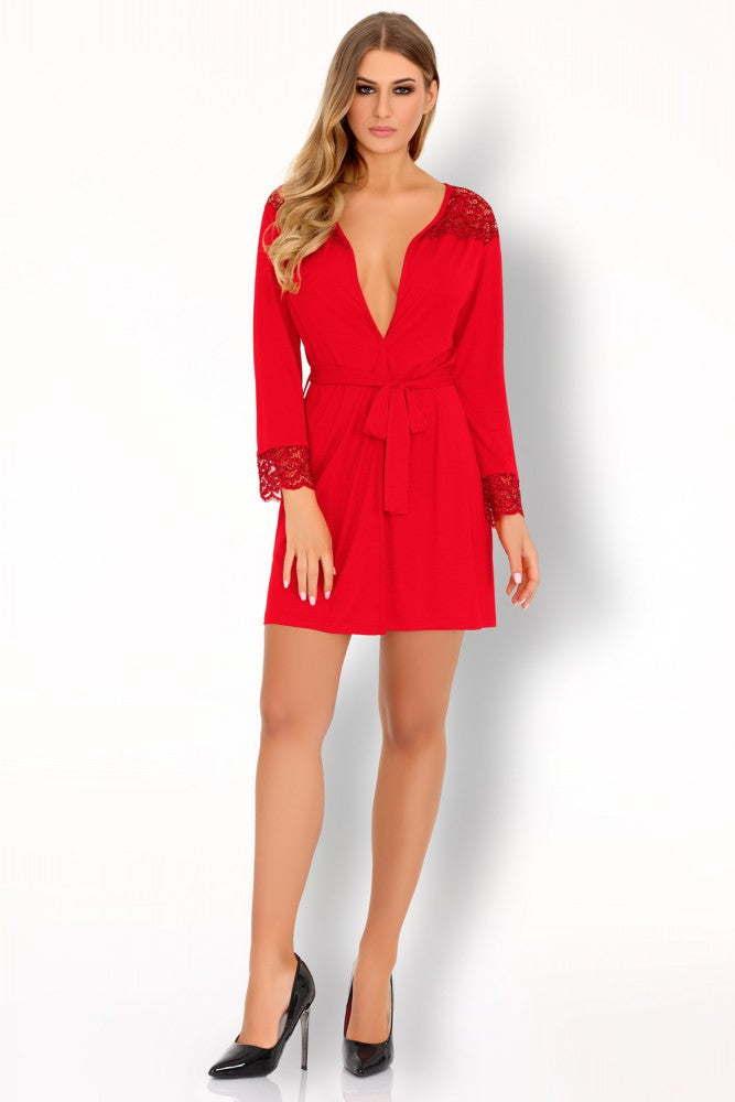 Omolarina Red Seductive Dressing Gown - EVOLESCENT