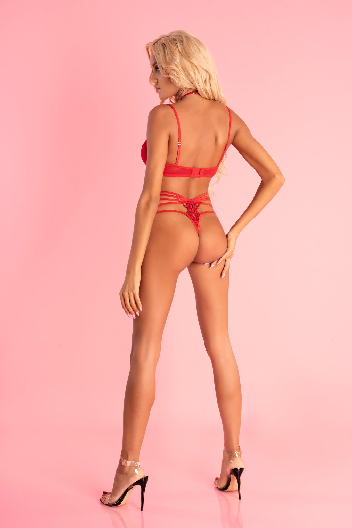 Adelienn Red Body With Straps - EVOLESCENT