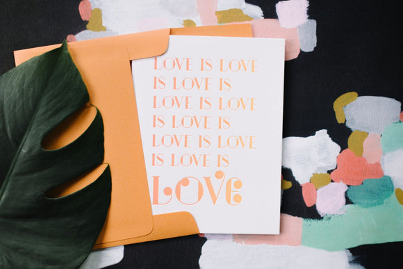 Harken Press - Love Is Love Ombre Card