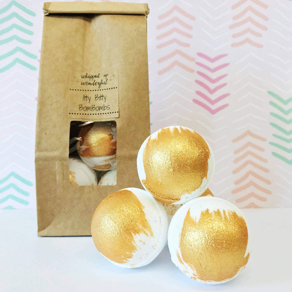 Whipped Up Wonderful - Milk and Honey Itty Bitty BomBombs - Mini Bath Bomb - 5 Pcs