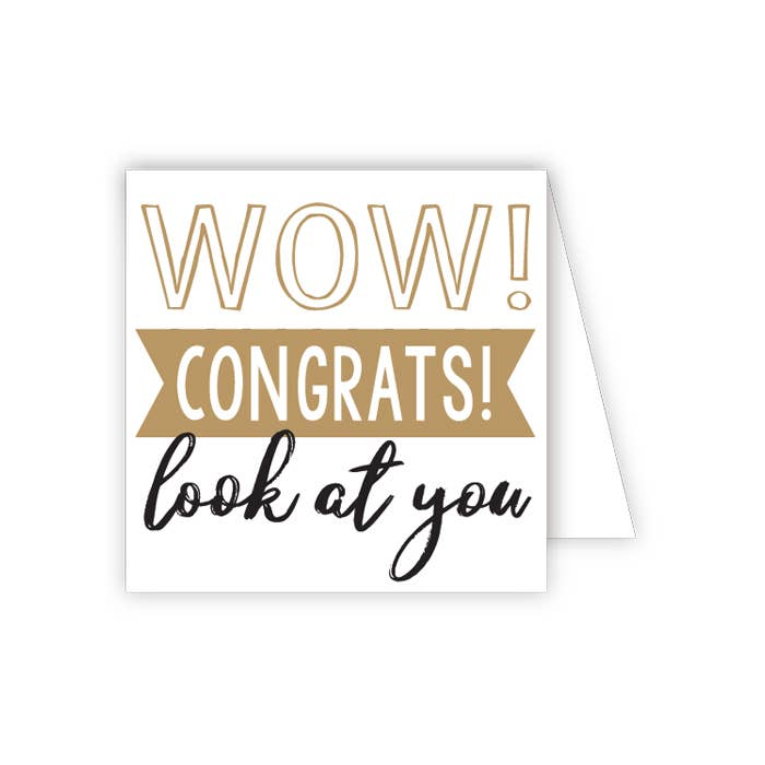 RosanneBeck Collections - Wow Congrats Look at You Enclosure Card