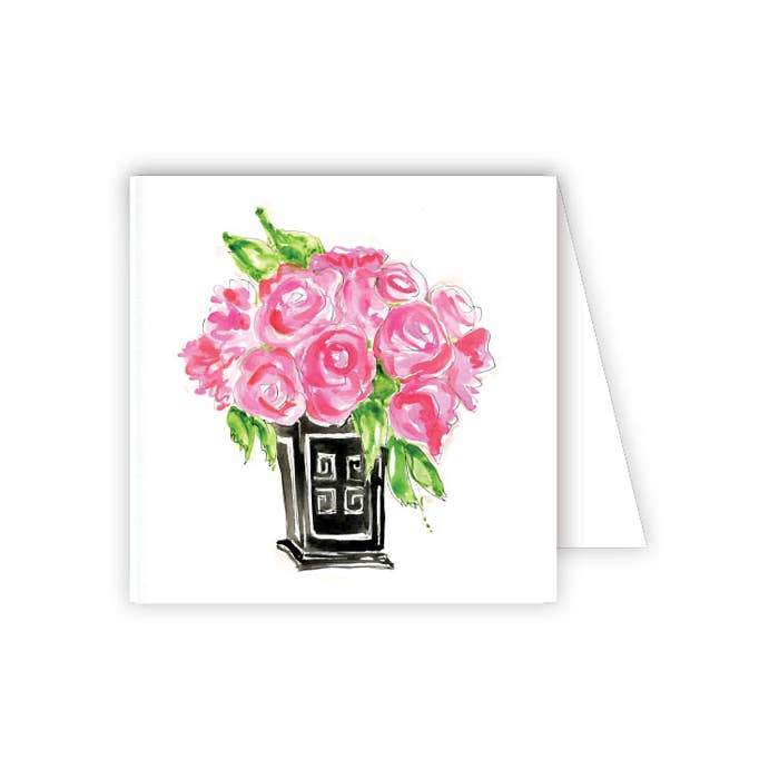 RosanneBeck Collections - Floral in Black Vase Enclosure Card