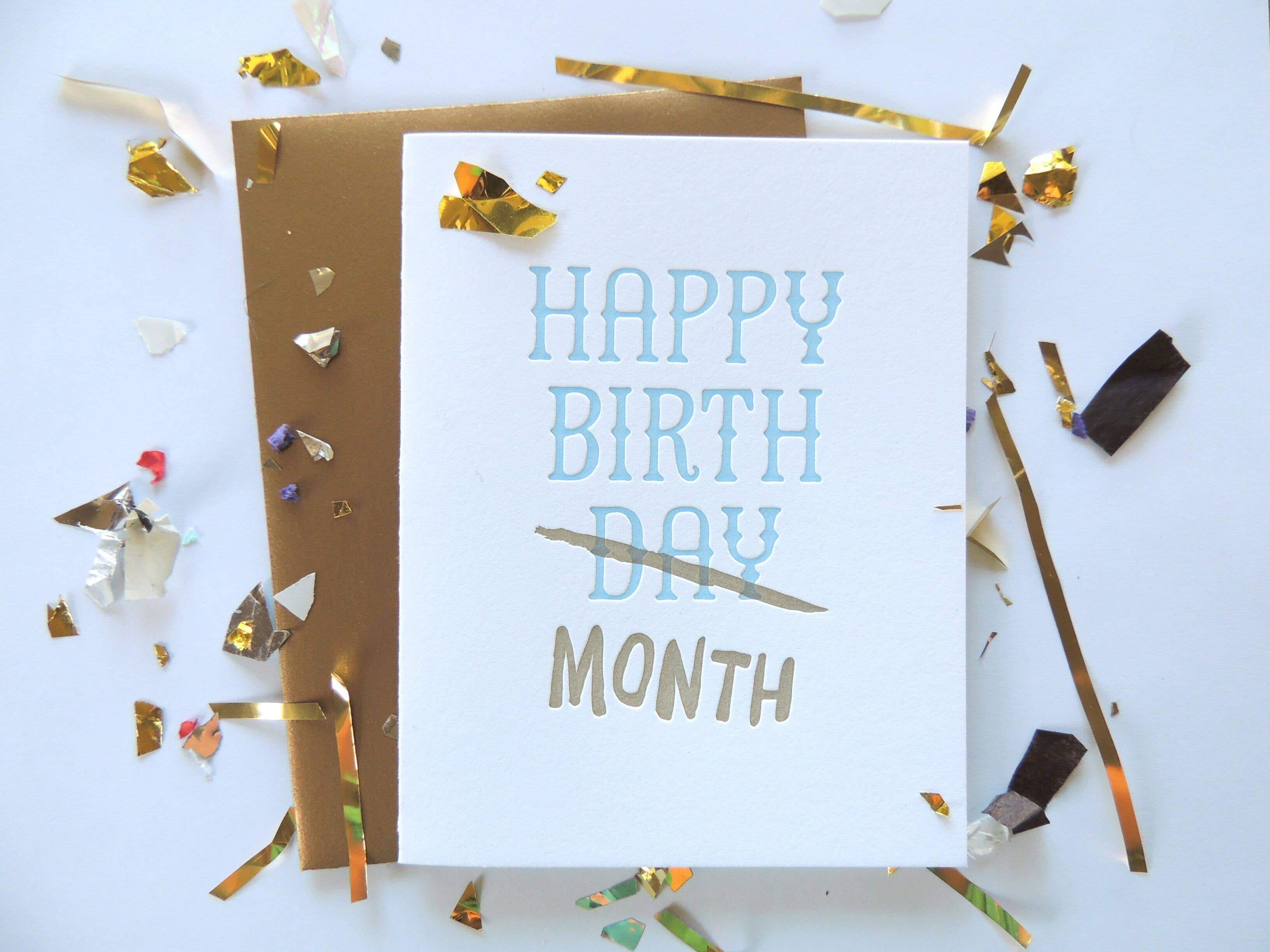 Harken Press - Birthday Month Card
