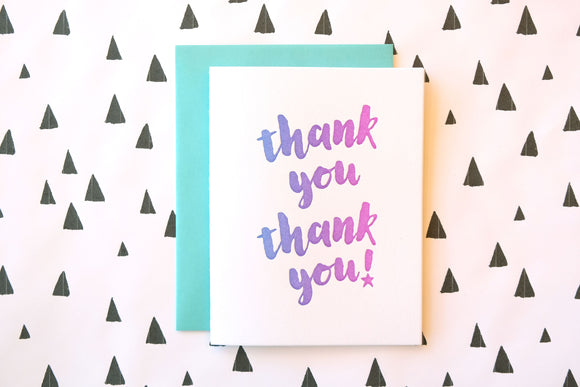 Harken Press - Thank You Ombre Card