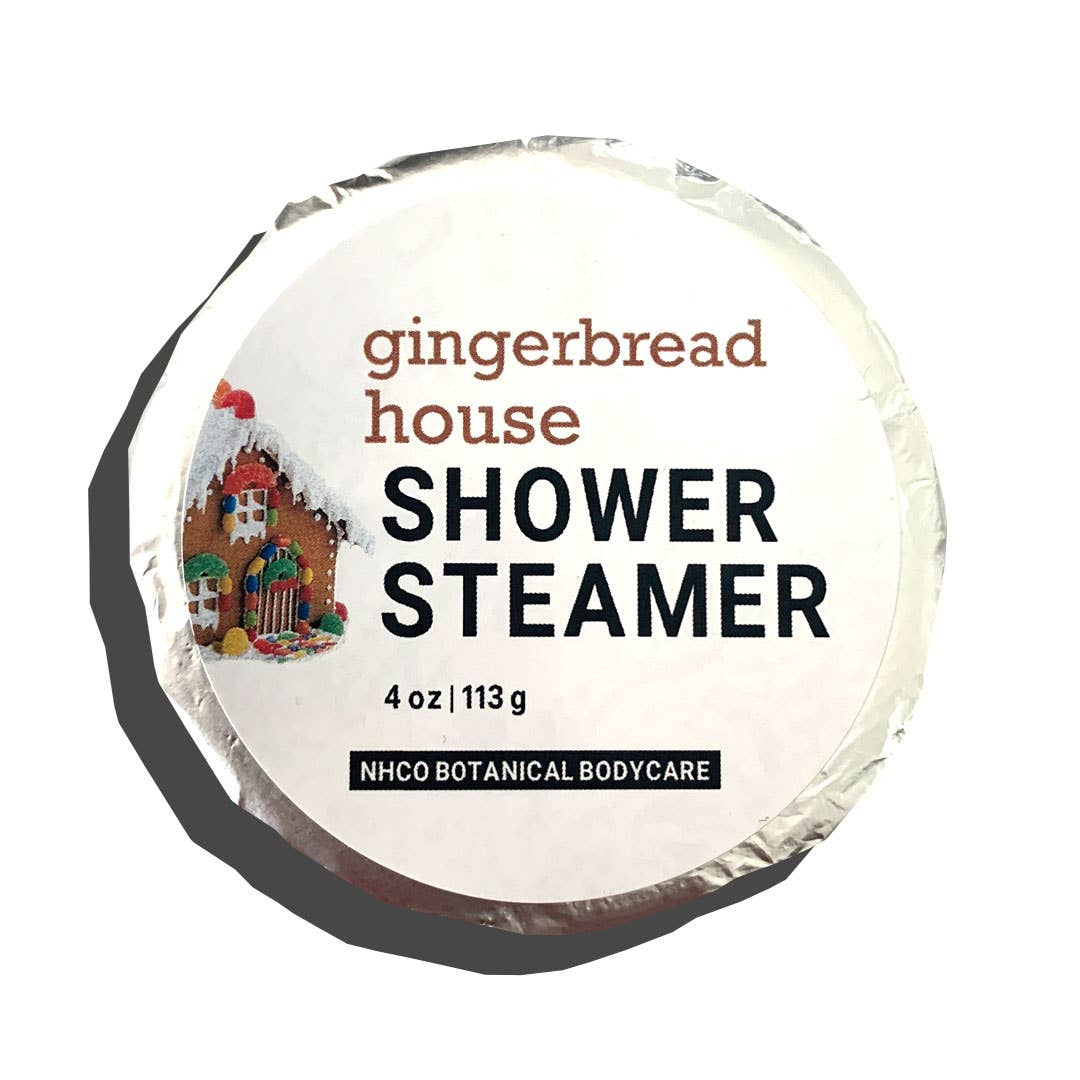 NHCO Botanical Body Care Gingerbread House Shower Steamer