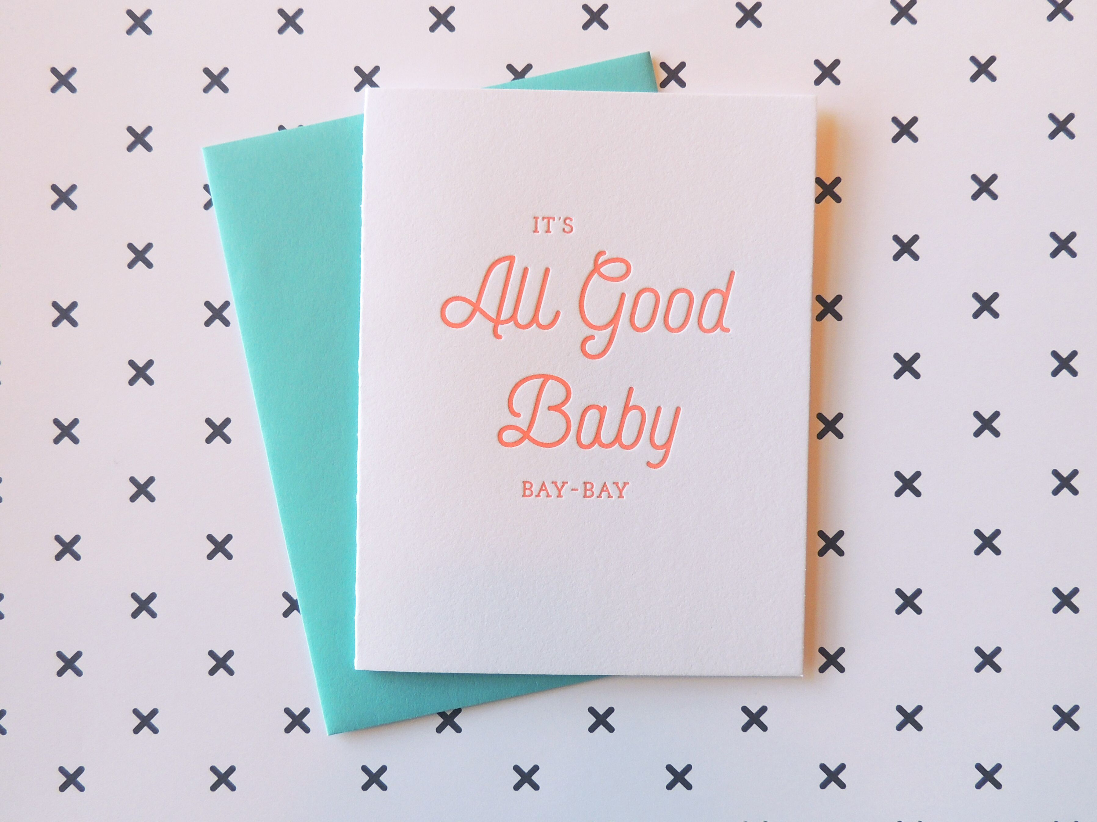 Harken Press - All Good Baby Card