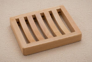 Wooden Soap Dish Curved Rectangle Tray
