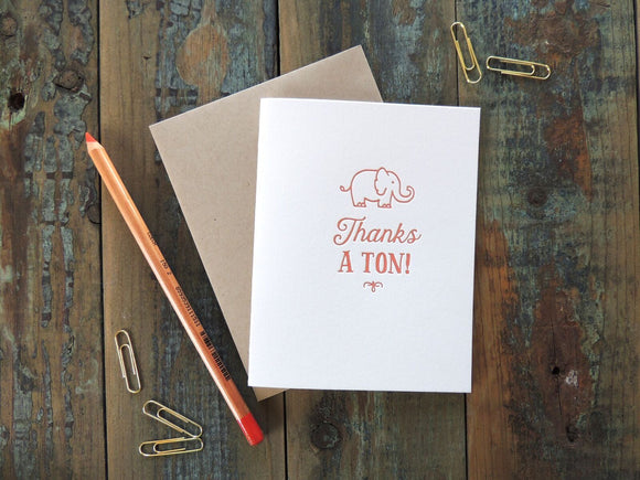 Harken Press - Thanks a Ton Card