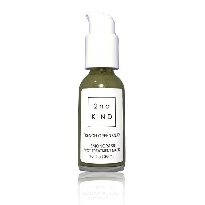 French Green Clay + Lemongrass Face Mask 1 oz by 2nd Kind