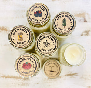 Soy Wax Candle - Whiski Farm Fresh