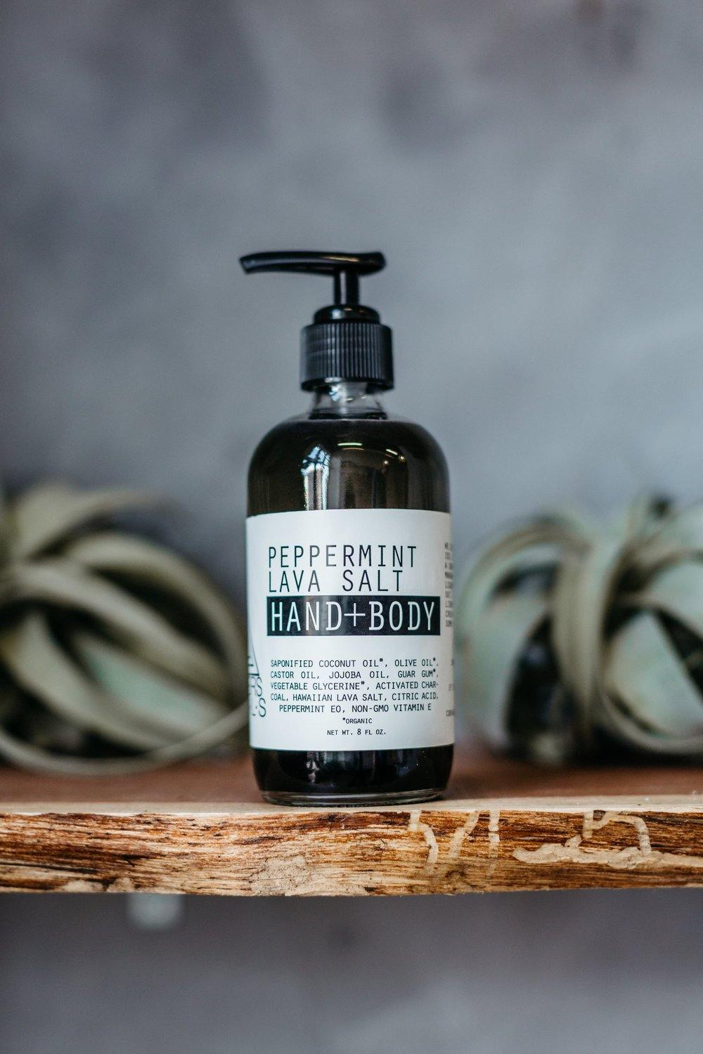 Moon Rivers Naturals Peppermint Lava Salt Hand & Body Wash - White Rock Soap Gallery