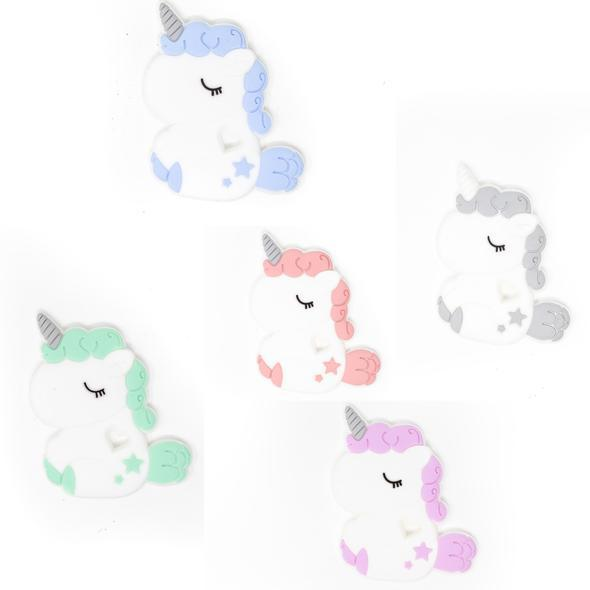 Three Hearts Modern Unicorn Teething Accessories