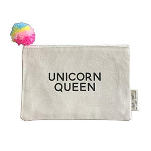 The Sleepy Cottage - Unicorn Queen Pom Pom Makeup Bag
