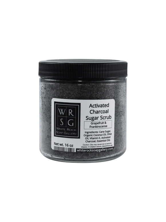 Activated Charcoal Sugar Scrub