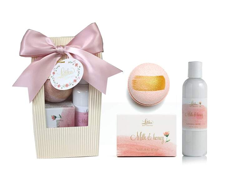 Latika Body Essentials - Milk & Honey Bath Gift Set