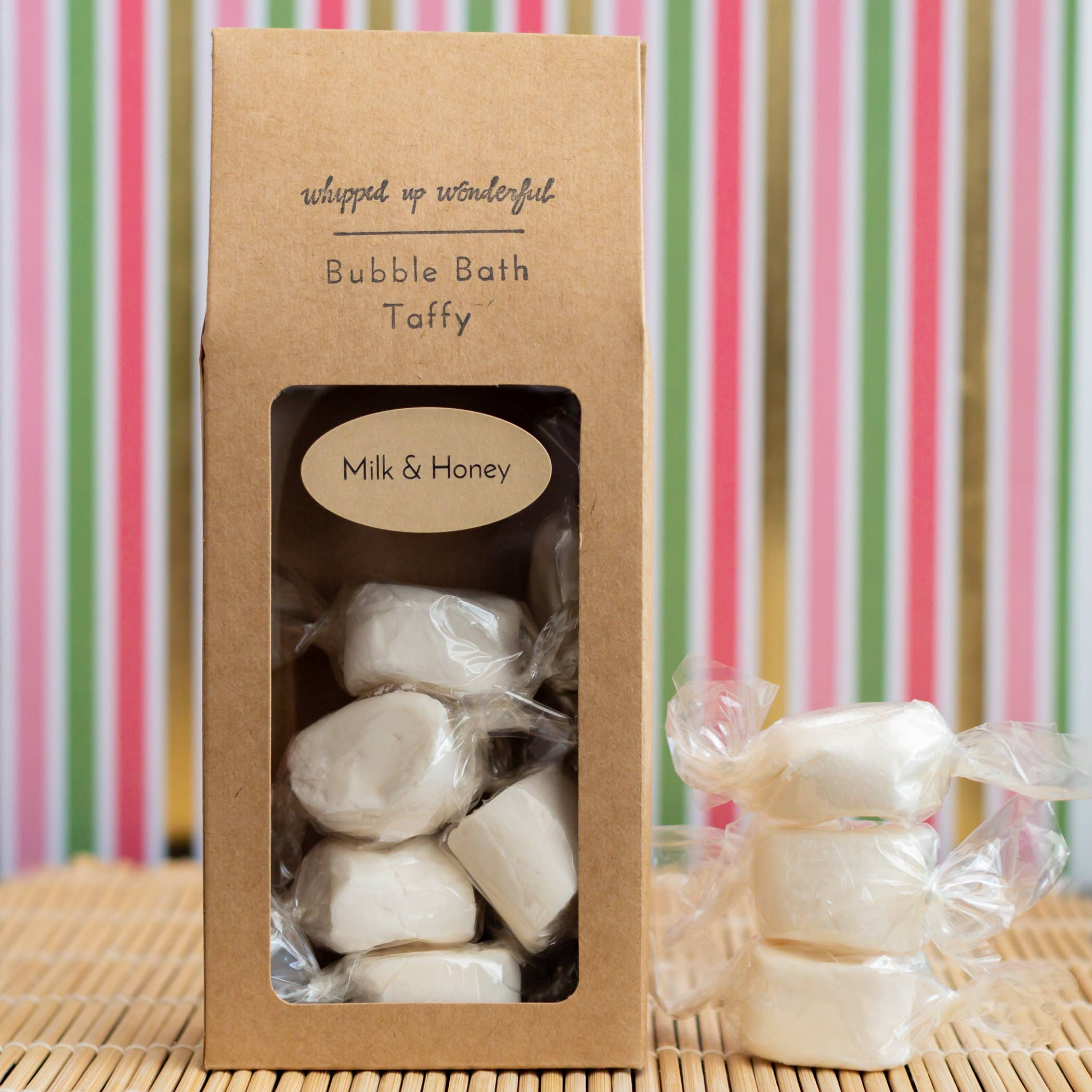 Whipped Up Wonderful - Milk & Honey Bubble Bath Taffy - 6 Pieces