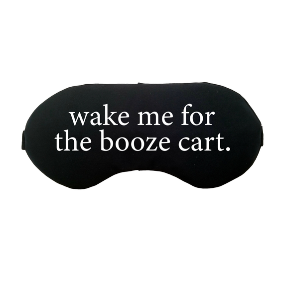 The Sleepy Cottage - Wake me for the Booze Cart Satin Sleep Mask