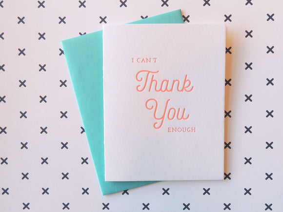 Harken Press - Can't Thank You Card
