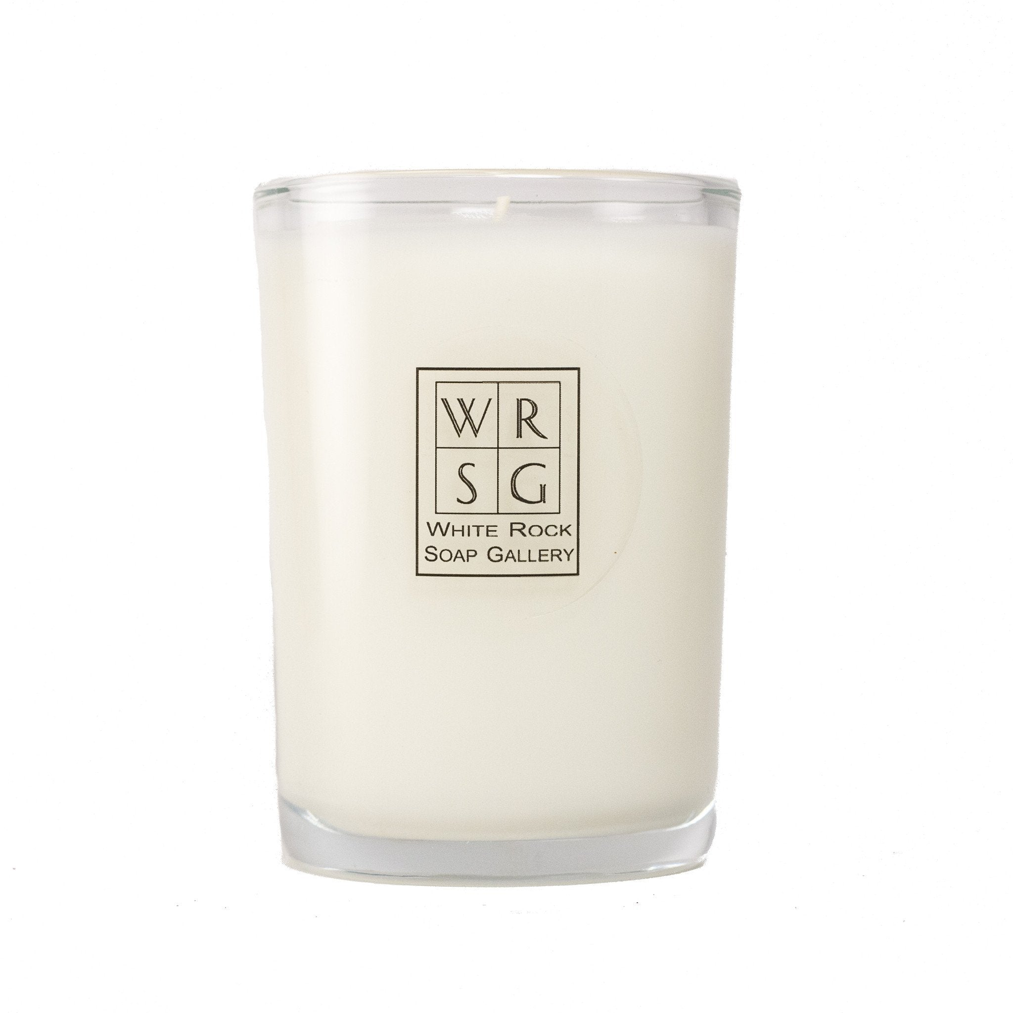8 oz Glass Soy Wax Candle - White Rock Soap Gallery