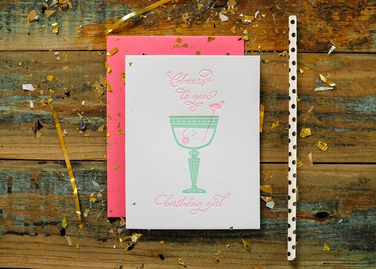 Harken Press - Cheers Birthday Girl Card