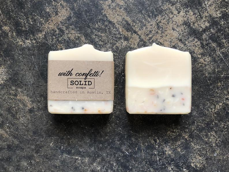 Solid Soaps - With Confetti!