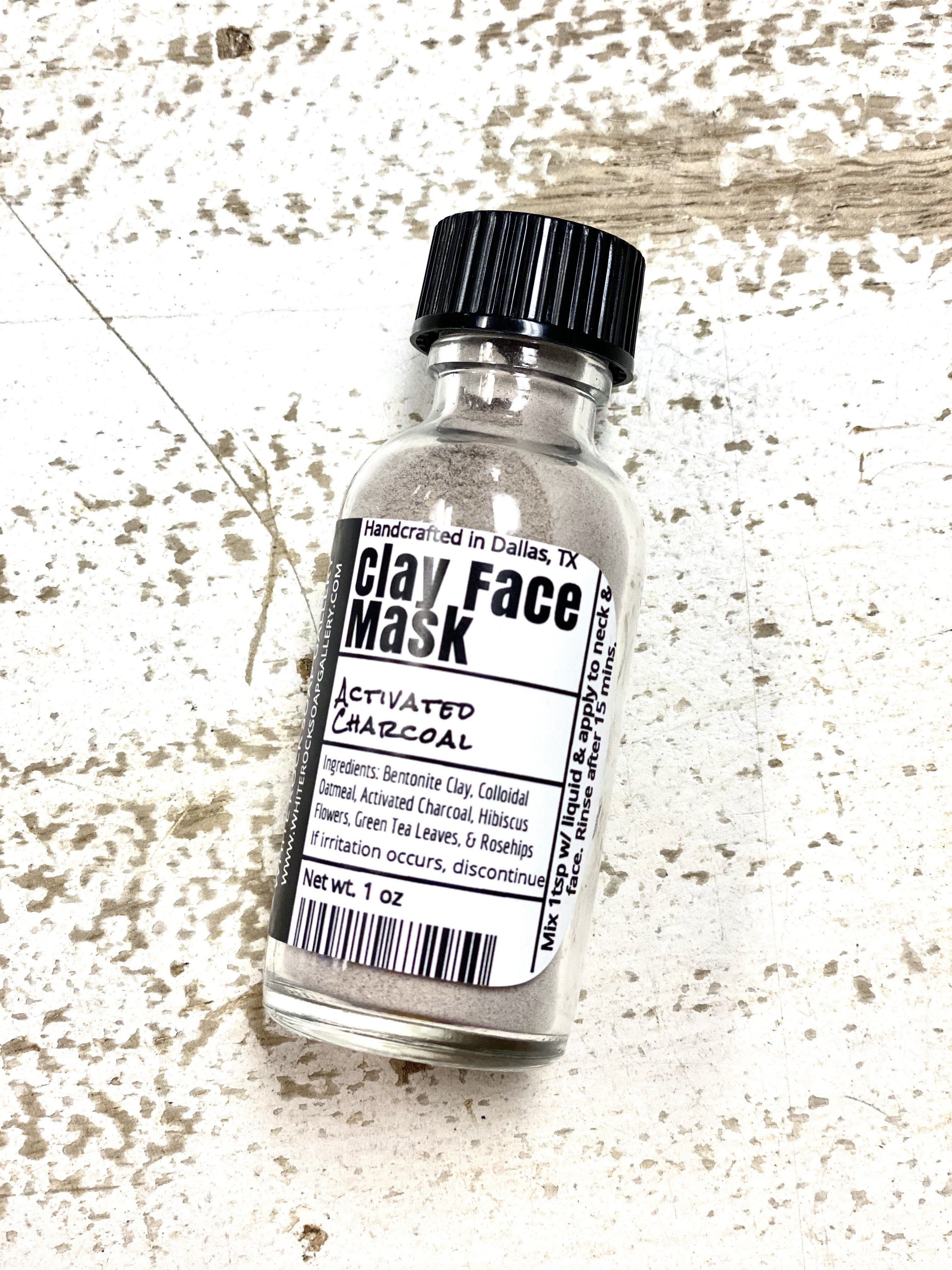 Activated Charcoal Clay Face Mask - Travel Size
