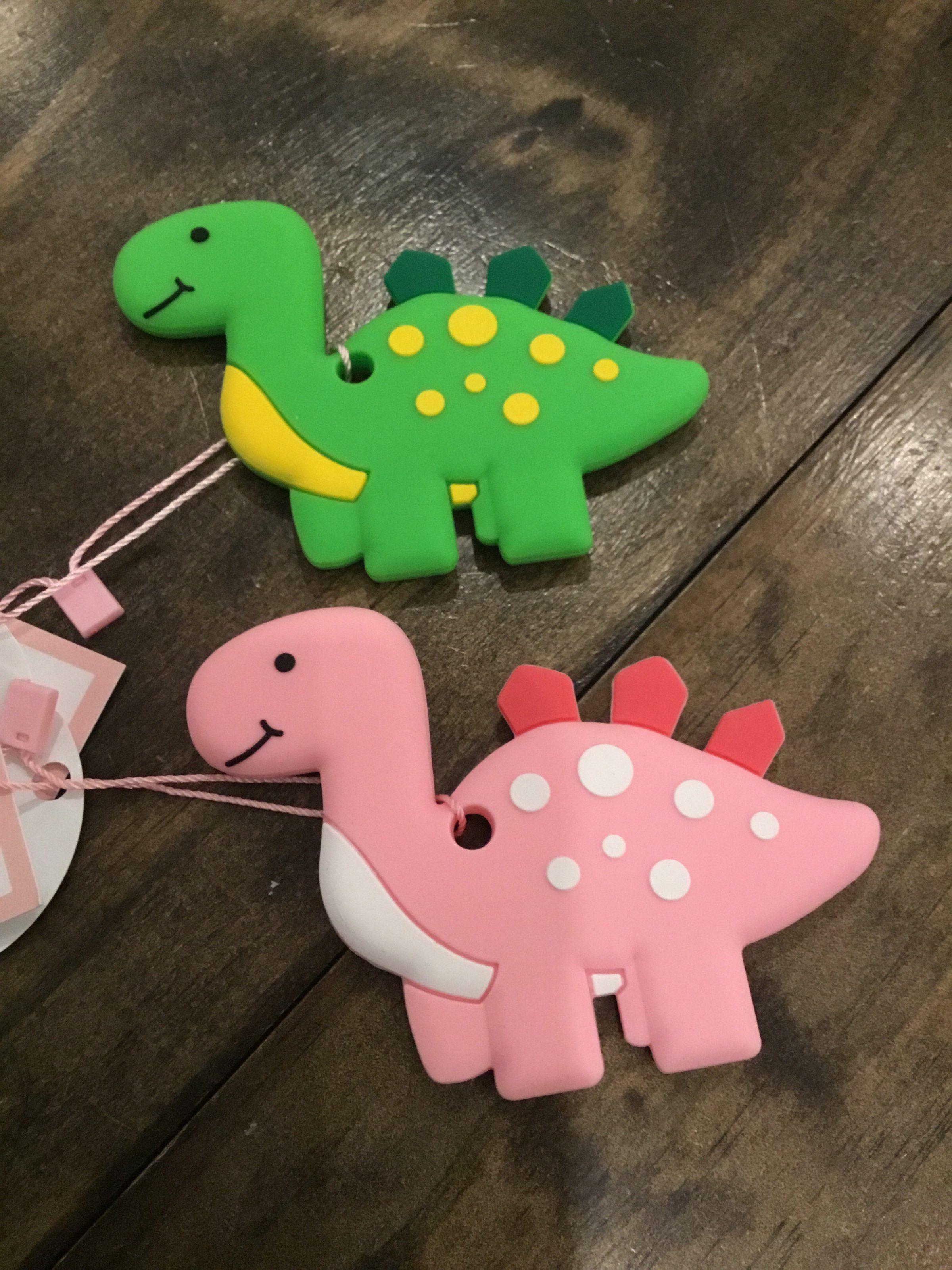Three Heart Modern Dino Teething Accessories