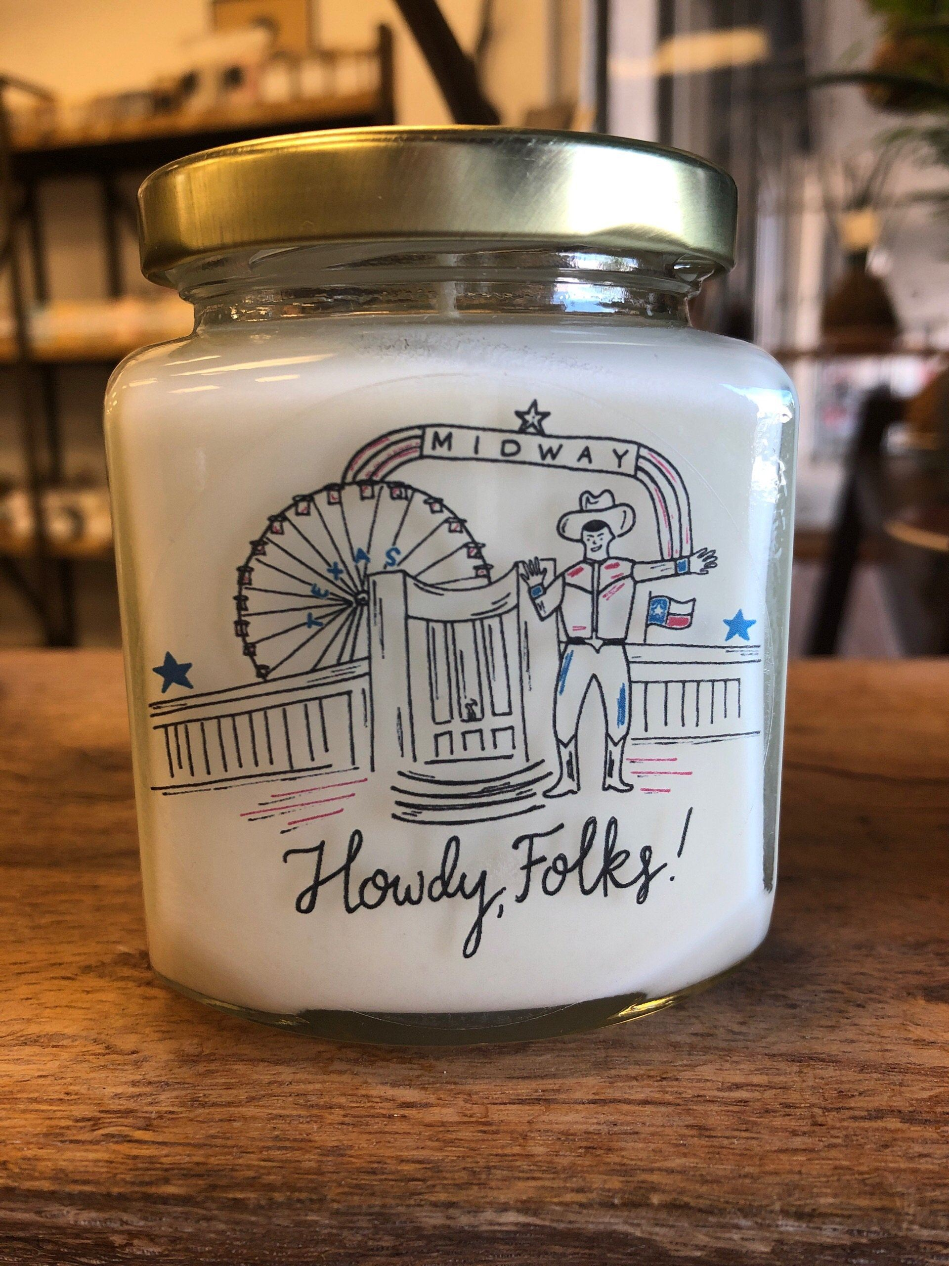 Whiski Designs Soy Wax Candle - Howdy Folks!