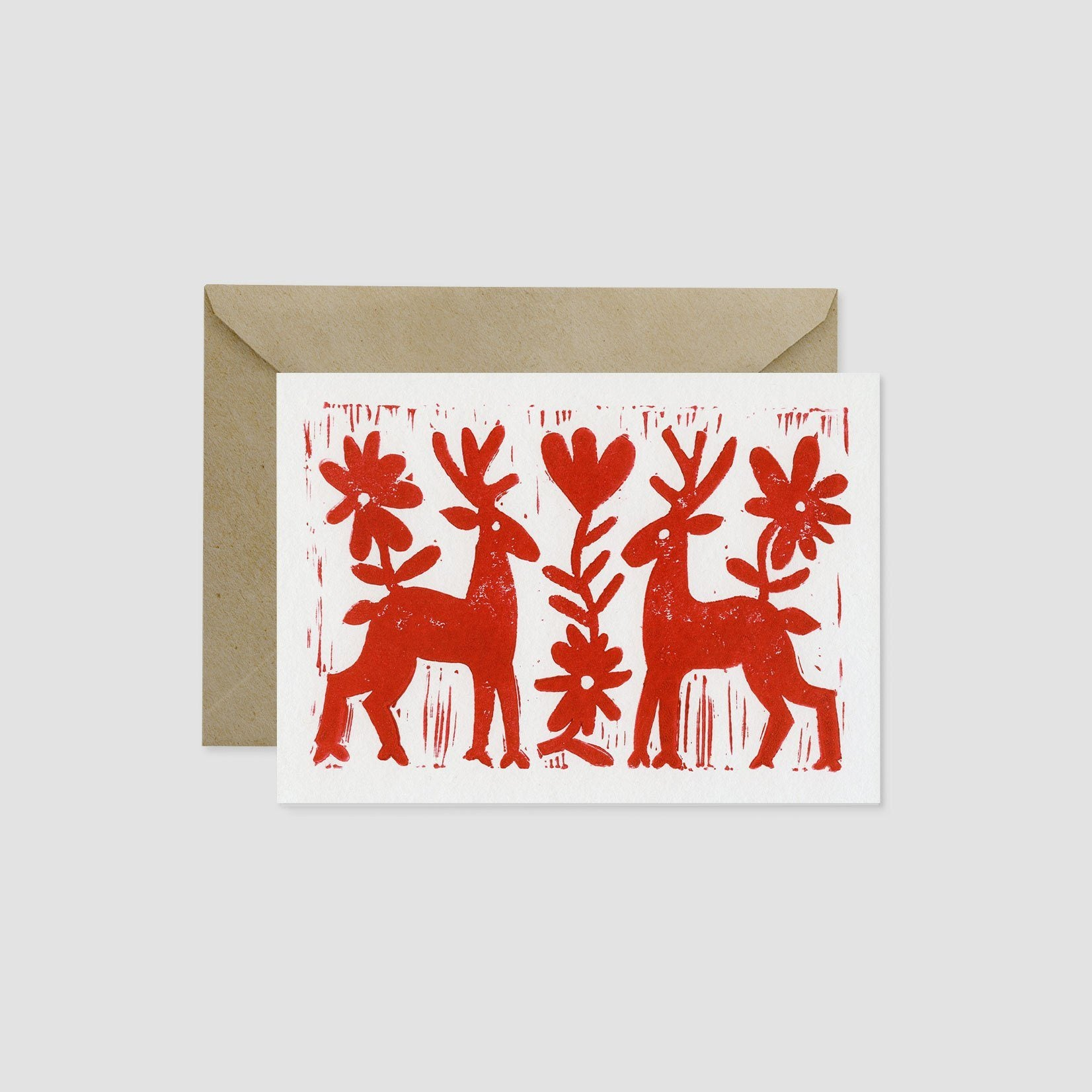 Wandering Paper Co. A7 Otomi Reindeer Card