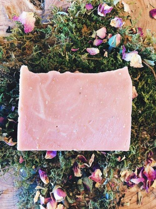 Moon Rivers Naturals French Rose Clay Facial Bar