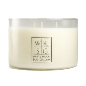 Three Wick Soy Wax Candle - White Rock Soap Gallery