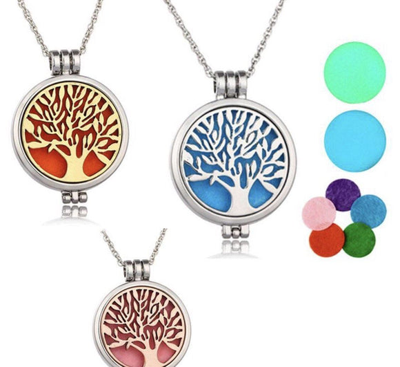 Tree of Life Silver Pendant Diffuser