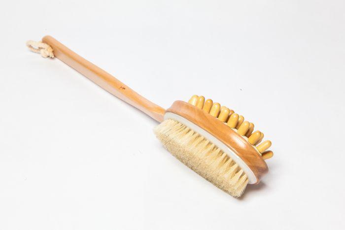 Long Handled Body Brush with Massager Opposite Side