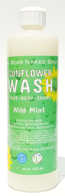 Lion Bear Naked Soap Co. Sunflower Wash Wild Mint
