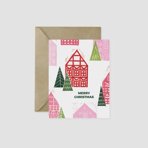 Wandering Paper Co. German Christmas Village A2 Card