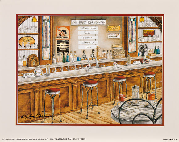 Main Street Soda Fountain - Original Oil