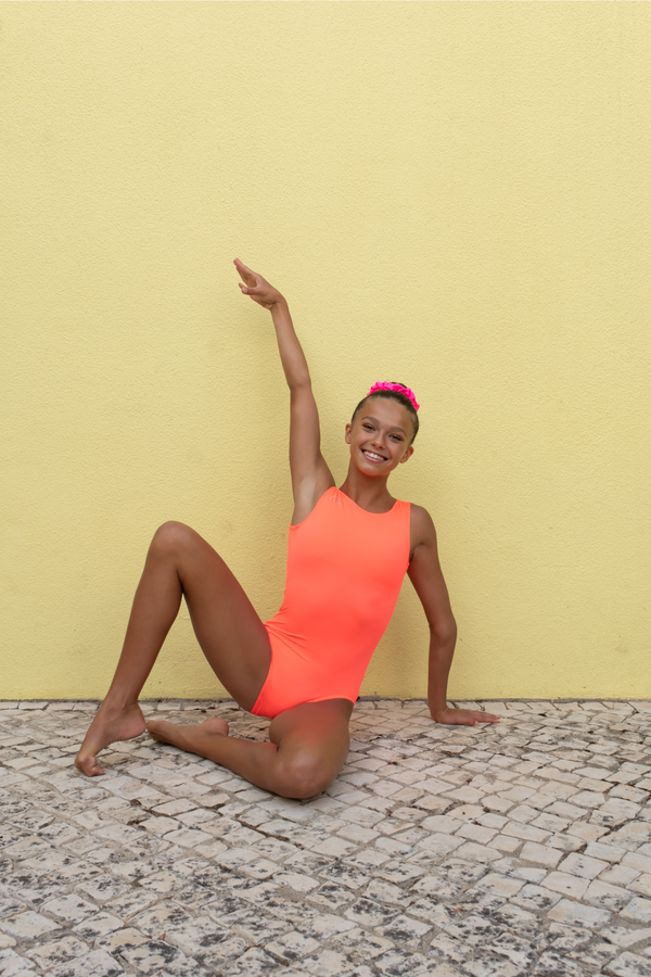 Coral Power Leotard