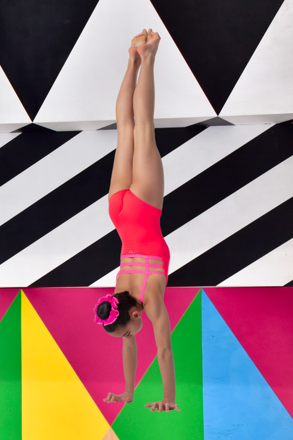 Fluo Red Step Out Leotard