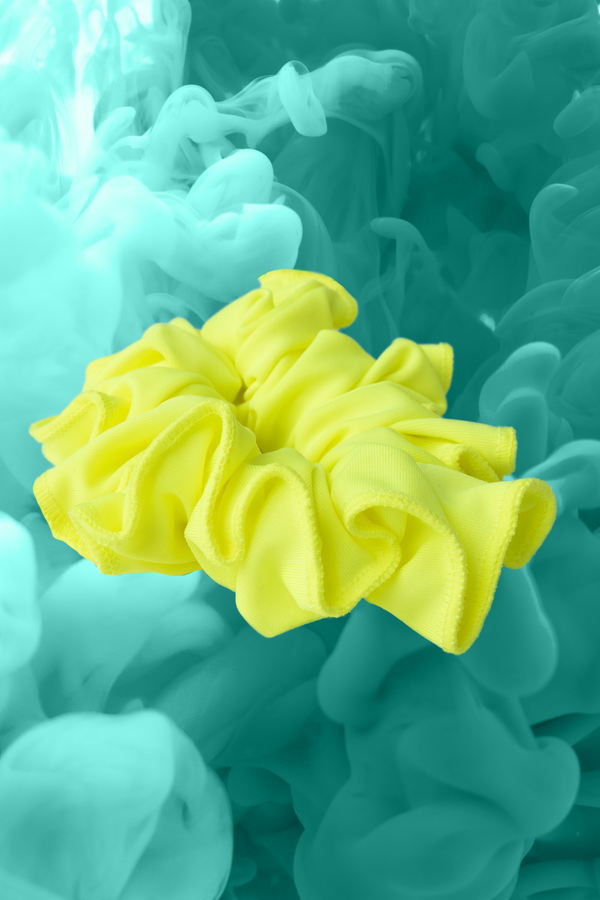 Fluo Yellow Scrunchie