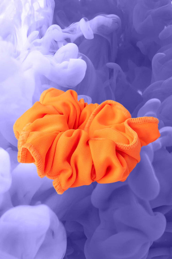 Live Orange Scrunchie