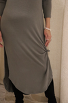 Blue Gray Soft Maxi Dress