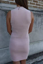 Blush Mock Neck Sleeveless Knit Dress