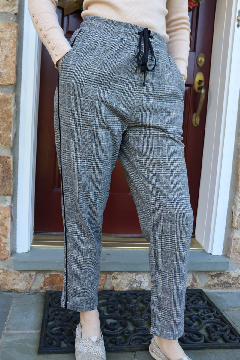 Plaid Pinstripe Pants